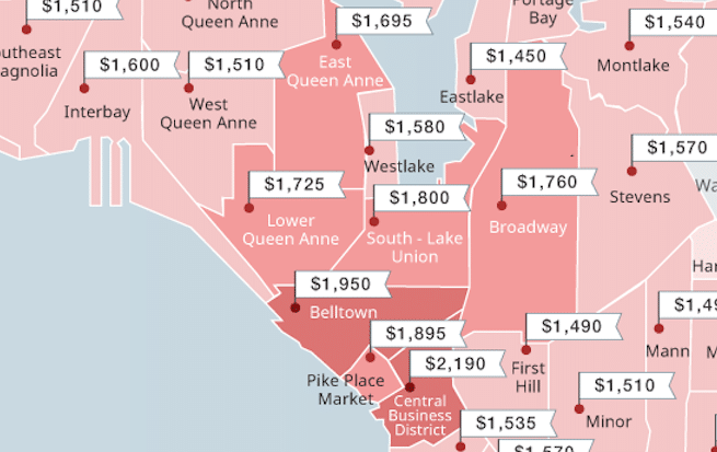 Seattle s Cheapest And Most Expensive Neighborhoods To Rent This Summer. Seattle s Cheapest And Most Expensive Neighborhoods To Rent This