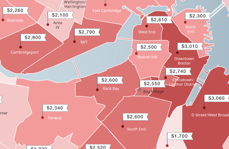 The Cheapest And Most Expensive Boston Neighborhoods For Renters