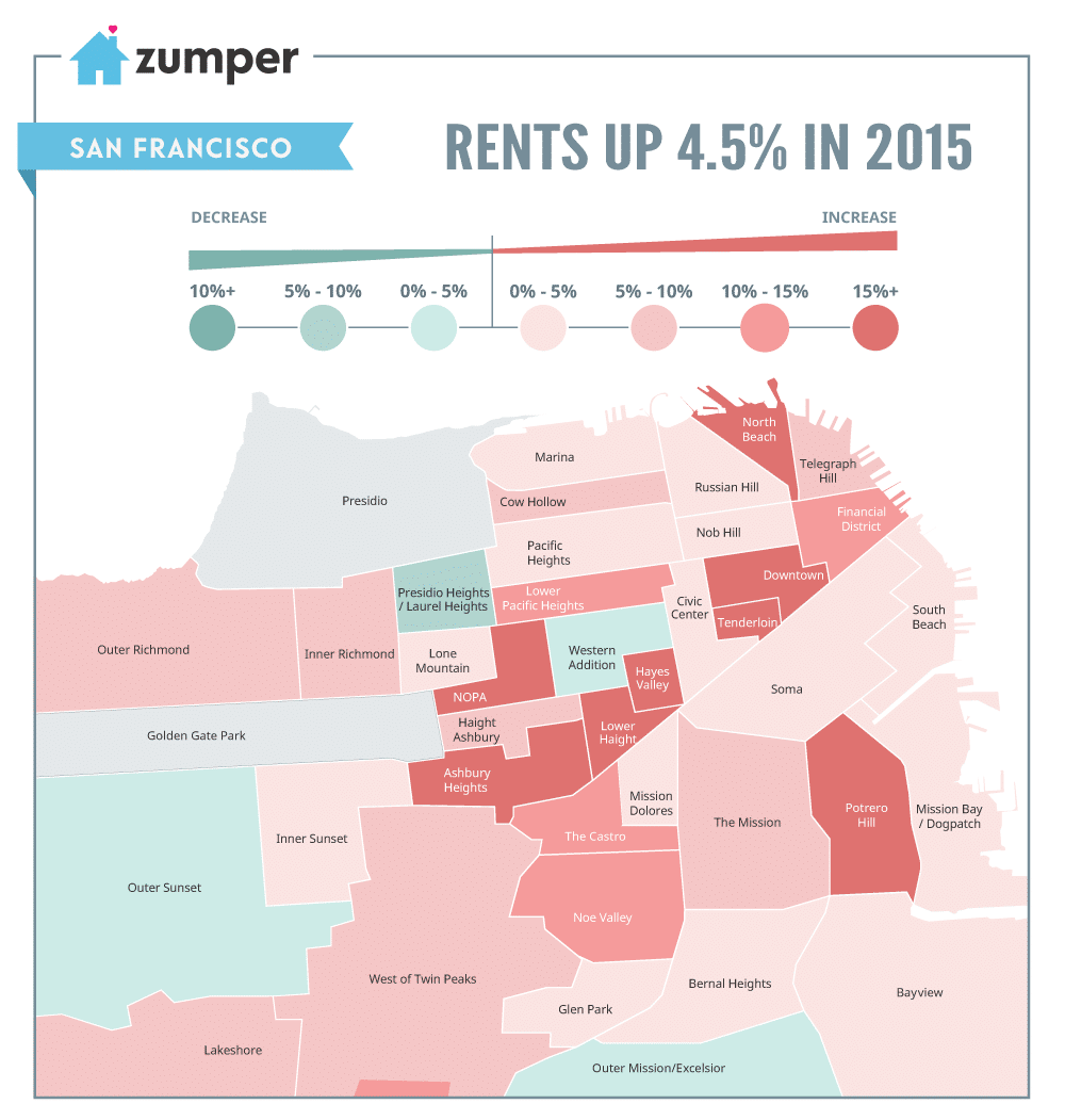 For Rent San Francisco Bay Area: See How San Francisco Rent Prices Changed In 2015