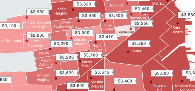 Mapping San Francisco Rent Prices This Summer June 2016