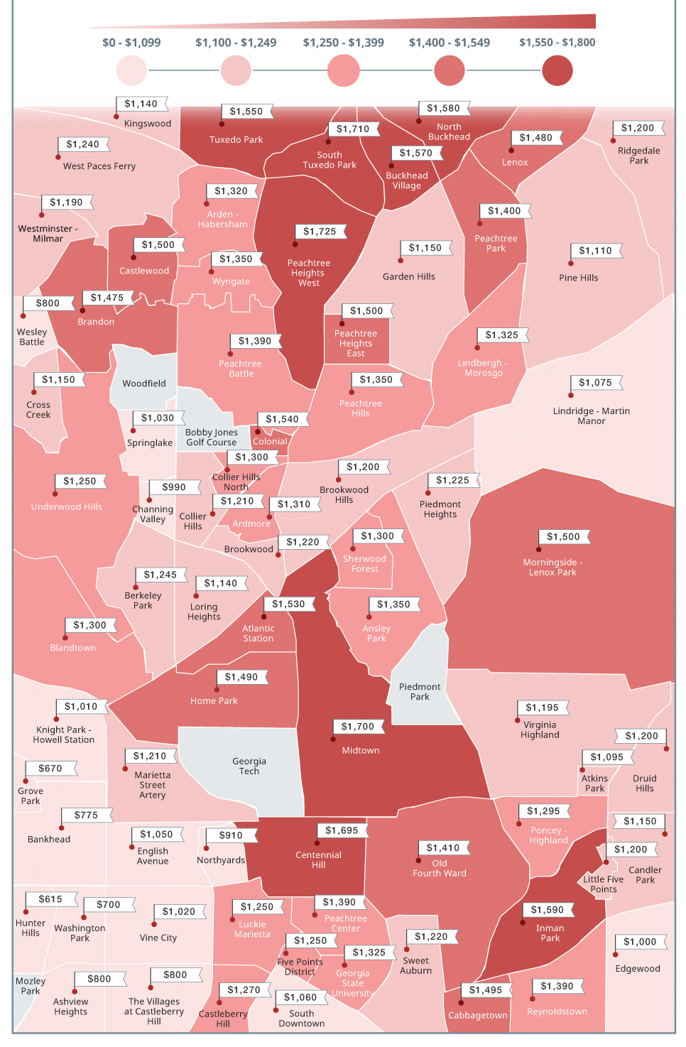 Average Rent For A 3 Bedroom House: Average Rent Prices In Atlanta, GA: Price Trends & Medians