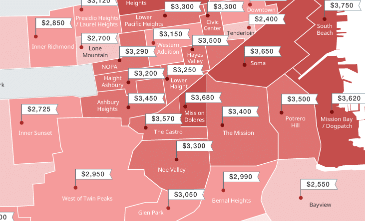 San Francisco Rent Prices Mapped This Spring March 2017