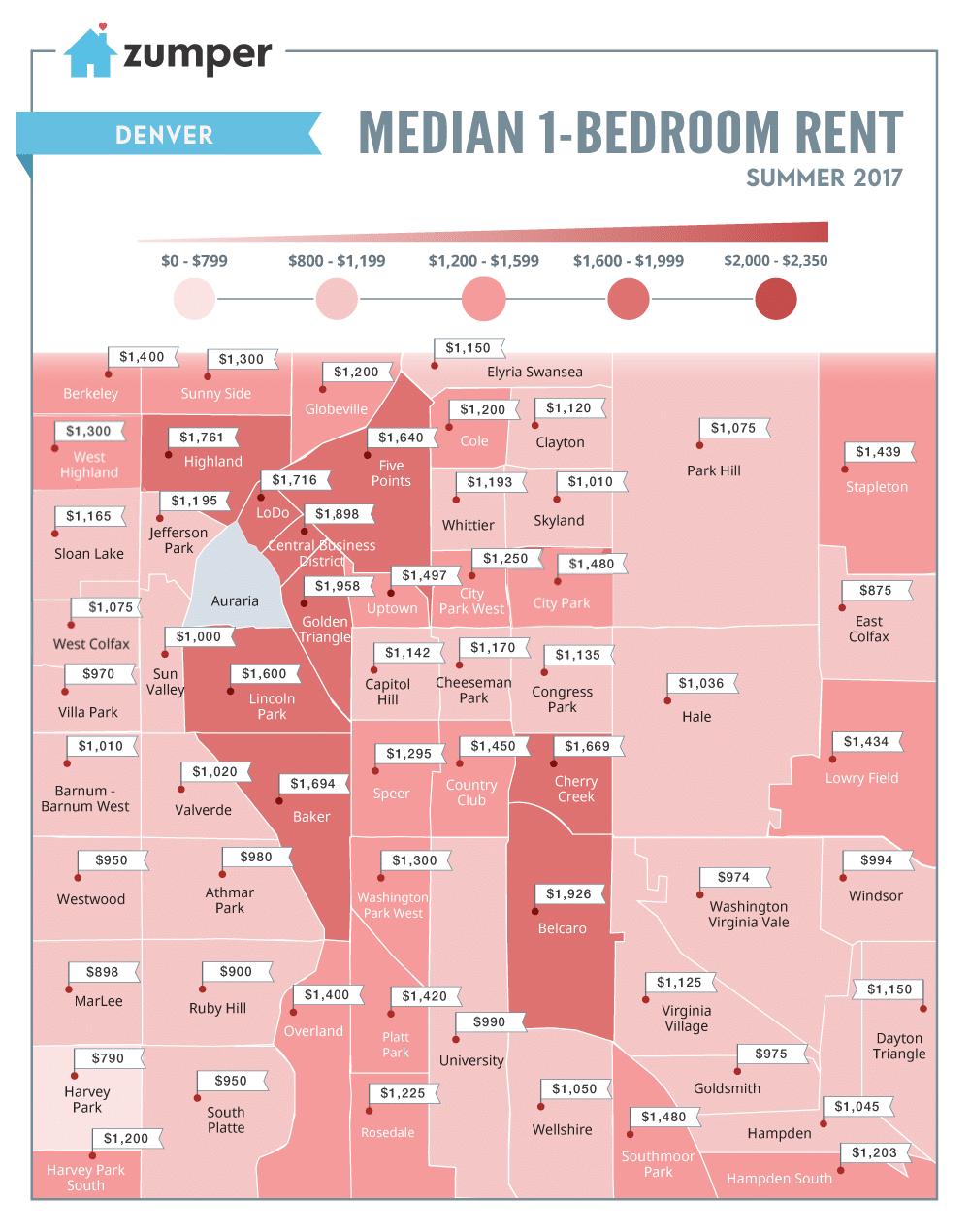 Denver Neighborhood Map 2017