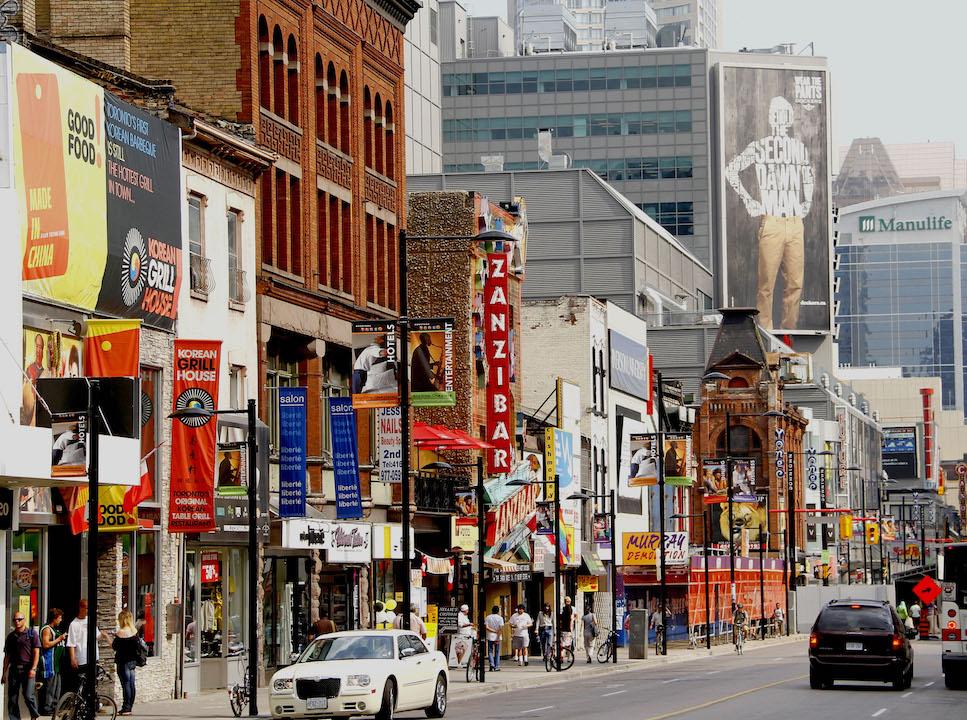 south down Yonge Street Toronto